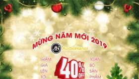 Giảm giá lên tới 40% tất cả các sản phẩm tại Audio Hà Nội nhân dịp Giáng Sinh và Năm Mới