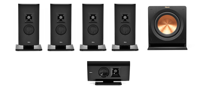 G-12 Gallery Home Theater trong do Loa Klipsch G 12 vai tro loa front, surround va center