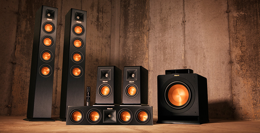 he thong dan am thanh 5.1 va bo Klipsch HD Control Center.Klipsch RP-140WM la loa suround