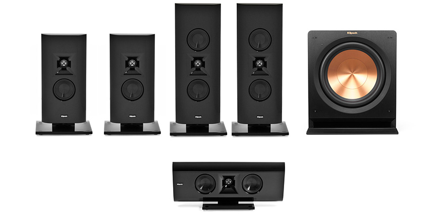 G-16 Gallery Home Theater voi  Klipsch G-16 dong vai loa front va center