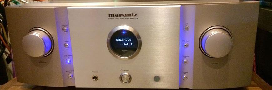 Mat truoc amply Marantz PM-11S3 Gold