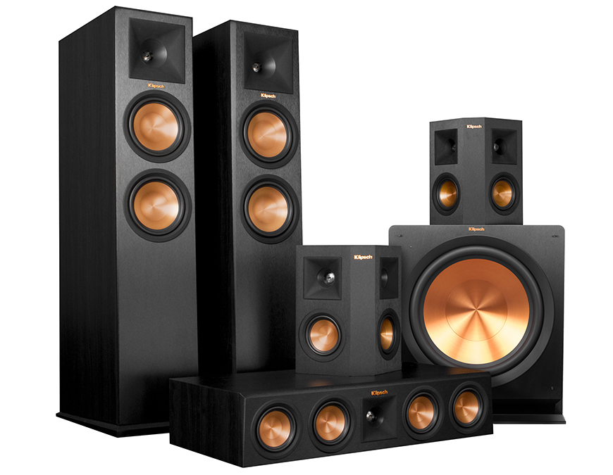 loa center Klipsch RP-450C trong bo dan Reference Premiere RP-280 home theater