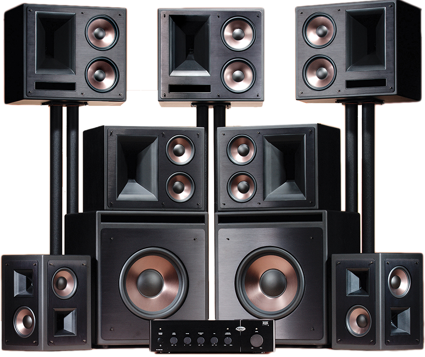 THX Ultra2 Home Theater System trong do co 3 chiec loa Klipsch KL-650-THX