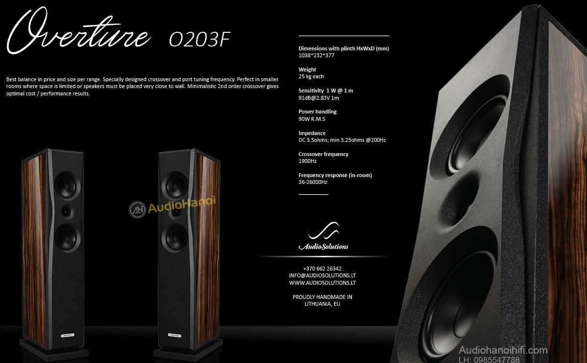 loa AudioSolutions Overture O203F tot