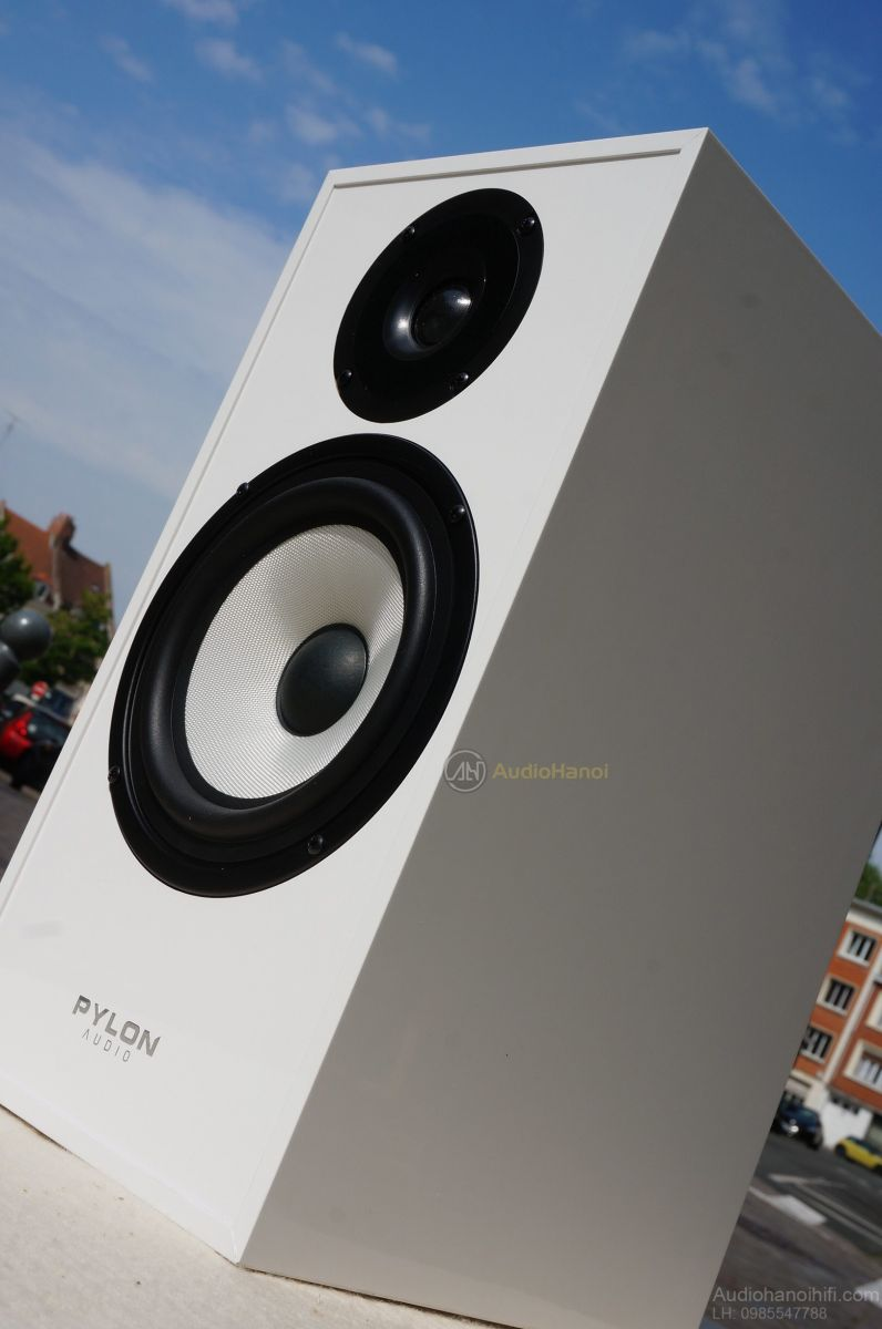 loa pylon audio pearl monitor white