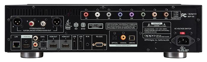 mat sau dau Blu-ray Oppo UDP-205