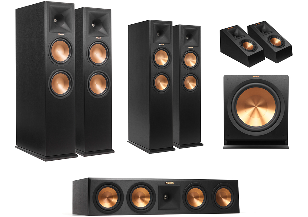 Klipsch Reference Primier Dolby Atmos trong do Klipsch RP-140SA la surround
